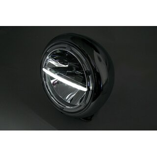 motorrad led scheinwerfer voyage hd style chrom 7 zoll. Black Bedroom Furniture Sets. Home Design Ideas