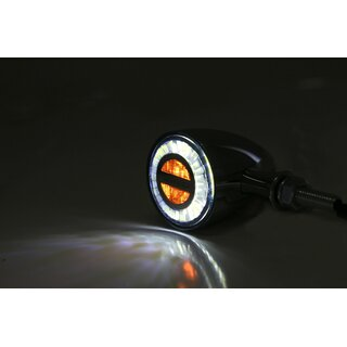 HIGHSIDER LED Blinker Positionsleuchte ROCKET BULLET chrom E-geprüft