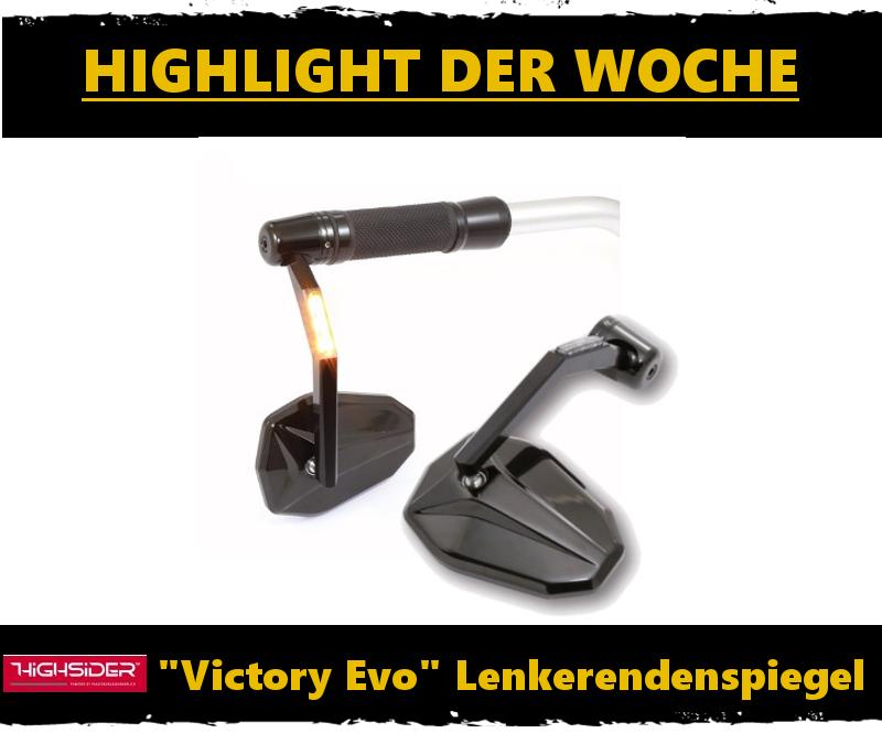 Lenkerendenspiegel Highsider Victory mit LED Blinker